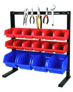 16 Piece Bench Top Storage Bin System