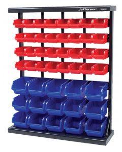 47 Piece Free Standing Storage Bin System