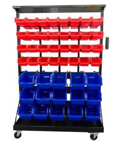 94 Piece Mobile Storage Bin System