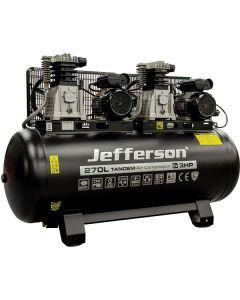 270 Litre 2x3HP 10 Bar Tandem Compressor (230V)