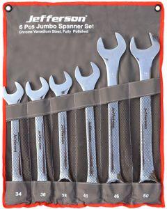 6 Piece Jumbo Spanner Set