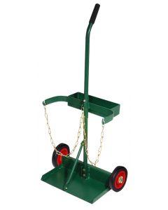 "Double Cylinder Trolley 6"" Wheels Single Handle"
