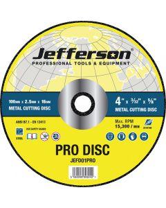 "4"" Metal Cutting Abrasive Disc 16mm Bore"