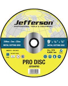 "9"" Metal Cutting Abrasive Disc 22mm Bore"