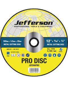 "12"" Metal Cutting Abrasive Disc 20mm Bore"