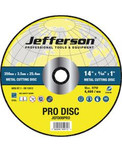 "14"" Metal Cutting Abrasive Disc 25.4mm Bore"