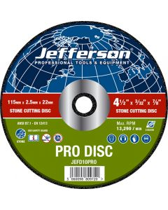 "4.5"" Stone Cutting Abrasive Disc 22mm Bore"
