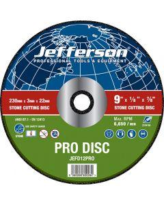 "9"" Stone Cutting Abrasive Disc 20mm Bore"