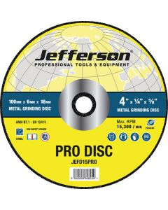 "4"" Metal Grinding Abrasive Disc 16mm Bore"