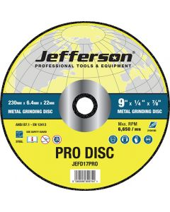 "9"" Metal Grinding Abrasive Disc 22mm Bore"