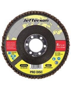 """4.5"""" Abrasive Flap Disc P40 Zircon 22mm Bore"""