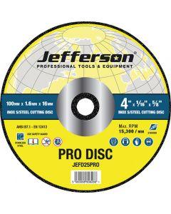 "4"" x 1.6mm INOX Cutting Disc 16mm Bore"