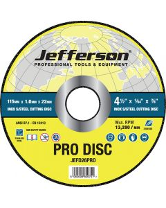"4.5"" x 1.0mm INOX Cutting Disc 22mm Bore"