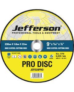 "9"" x 1.8mm INOX Cutting Disc 22mm Bore"