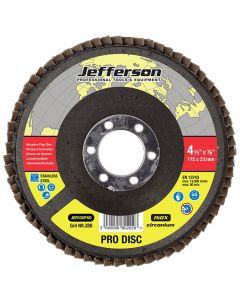 """4.5"""" Abrasive Flap Disc P80 Zircon 22mm Bore"""
