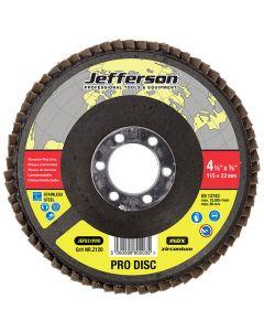 """4.5"""" Abrasive Flap Disc P120 Zircon 22mm Bore"""