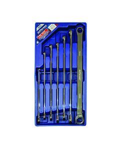 Extra Long 7 Piece Double Ring Fixed/Ratchet End Spanner Set