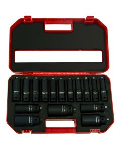 "16 Piece 1/2"" Deep Impact Socket Set"