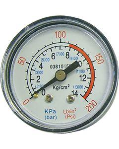 "1/4"" Compressor Pressure Gauge"