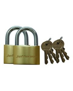 Brass Padlock 60mm Twin Pack