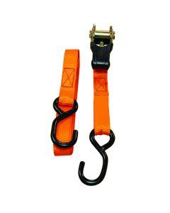 3.5m x 25mm Orange Ratchet Strap Set (2 Pack)