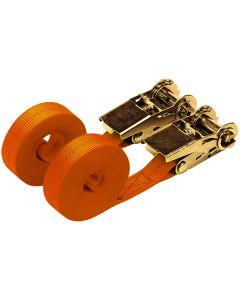 4.5m x 25mm Orange Ratchet Strap Set (2 Pack)