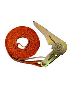 5m x 25mm Orange Ratchet Strap