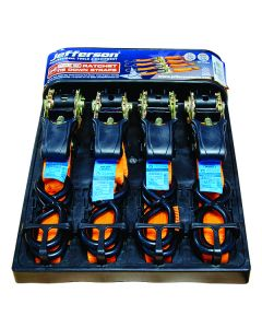 5.0m x 25mm Orange Ratchet Strap Set (4 Pack)