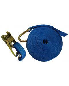 10m x 50mm Blue Ratchet Strap