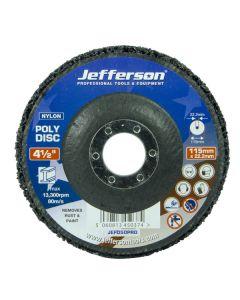"""4 1/2"""" Black Poly Disc 115mm x 22mm"""