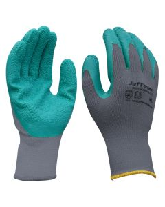 Grey / Green Grip Gloves