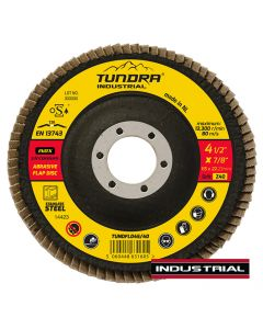 """Tundra Industrial 4.5"""" Flap Disc Z40 Grit"""