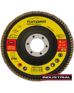 """Tundra Industrial 4.5"""" Flap Disc Z60 Grit"""